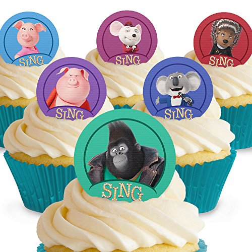 Cakeshop 12 x PRE-CUT Sing Edible Cake Toppers -