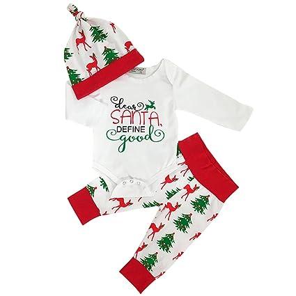 sukisuki bebé manga larga juego de ropa de Navidad, cartas impreso Toddler recién nacido pelele