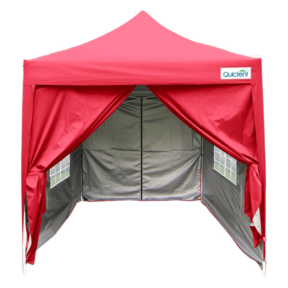 Amazon.com  Quictent Silvox Waterproof 6.6x6.6u0027 EZ Pop Up Canopy Commercial Gazebo Party Tent Red Portable Pyramid-roofed Style Removable sides With Roller ...  sc 1 st  Amazon.com & Amazon.com : Quictent Silvox Waterproof 6.6x6.6u0027 EZ Pop Up Canopy ...