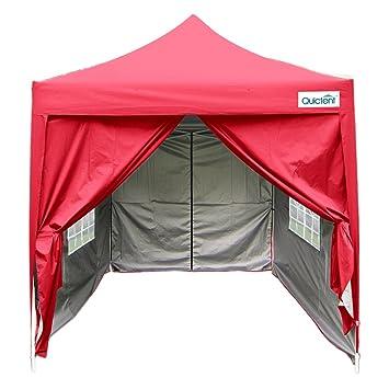 Quictent Silvox Waterproof 66x66 EZ Pop Up Canopy Commercial Gazebo Party Tent