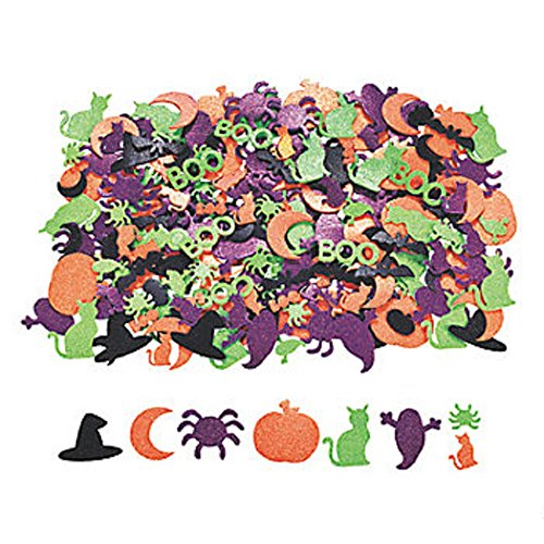 100 ~ Halloween Glitter Foam Stickers ~ 1