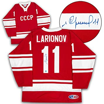 Igor Larionov Signed Jersey - Soviet Union Russia CCCP Custom ... 5c61d91aa