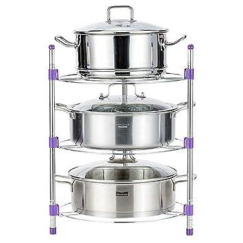 WENZHE Estantería Cocina Baldas Marco de esquina Horno microondas Utensilios de cocina clasificar Almacenamiento No se