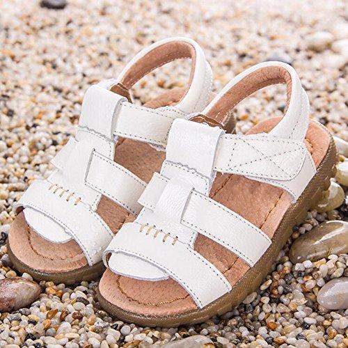 Highdas 2016 Sommer Sandalen Kinder Genuine Leder Schuhe Kausal Toddler Girl Sandalen Kinder Kids Beach Schuhe Sandalen Boy&girls Weiß