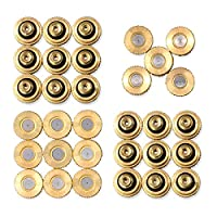 """32 Pack Brass Misting Nozzles For Outdoor Cooling System, 0.012"""" Orifice (0.3 mm) 10/24 UNC By Aootech"""