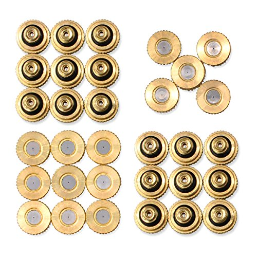Aootech 32 Pack Brass Misting Nozzles for Outdoor Cooling System, 0.012