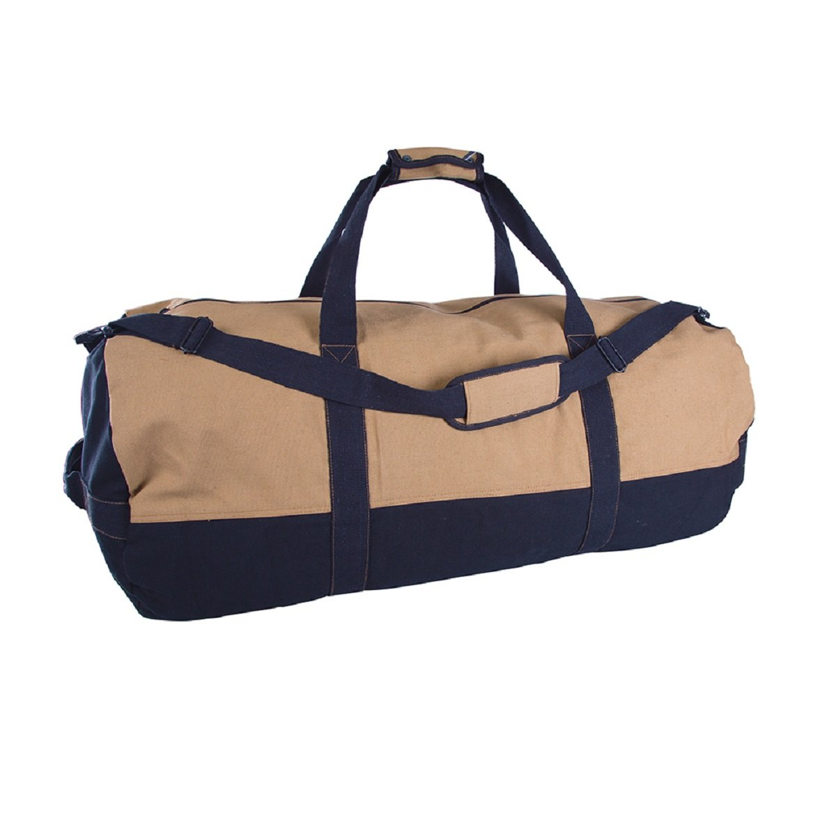 DUFFLE BAG WITH ZIPPER - 2 TONE - 18 IN X 36 IN, Case of 6 by DollarItemDirect