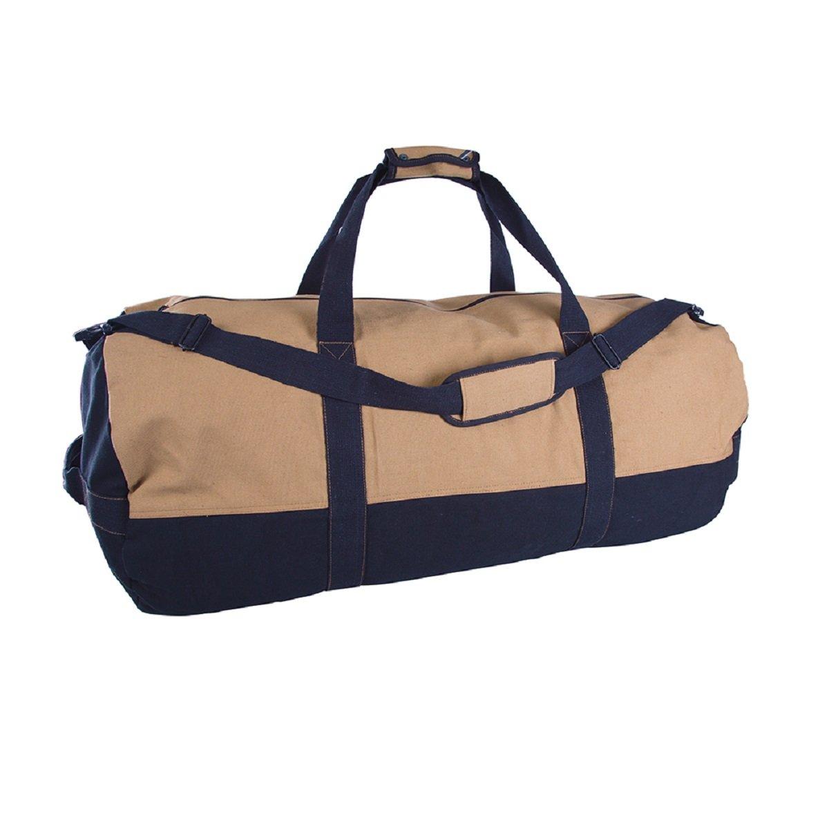 DUFFLE BAG WITH ZIPPER - 2 TONE - 18 IN X 36 IN, Case of 6