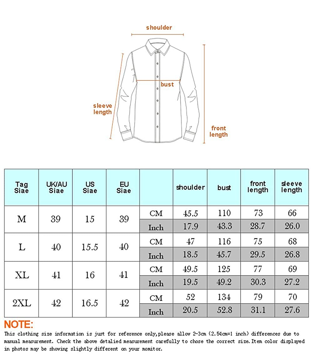 Wrinkle Free Casual 3D Print Long Sleeve Button Down Shirt UGGKA US Mens Shirts