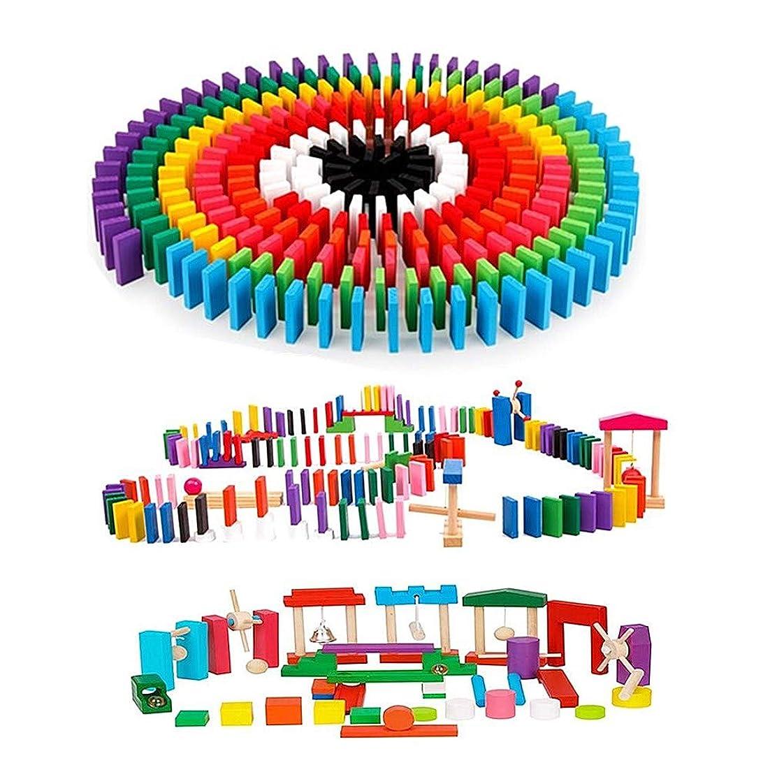 過去用語集コントローラAISFA 積み木 ドミノ倒し 知育玩具 360個 ギミック 仕掛け24種セット 木製 カラフル こども 誕生日 プレゼント 並べる用道具と収納袋 セット