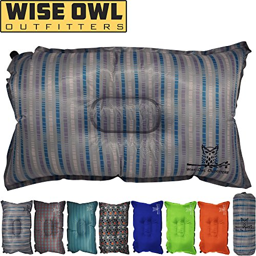 Wise Owl Outfitters Camping Pillow Lightweight & Self Inflat