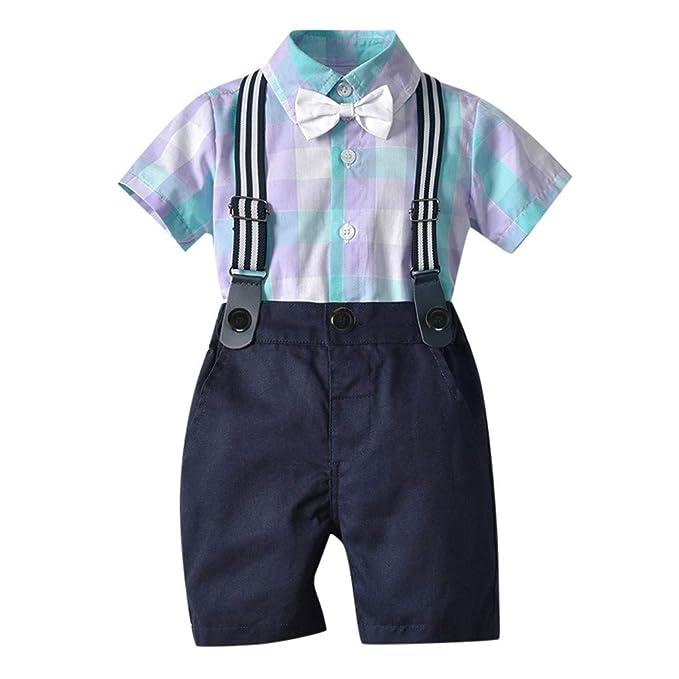 Modaworld Traje de Caballero bebé niño Infantil Conjunto de ...