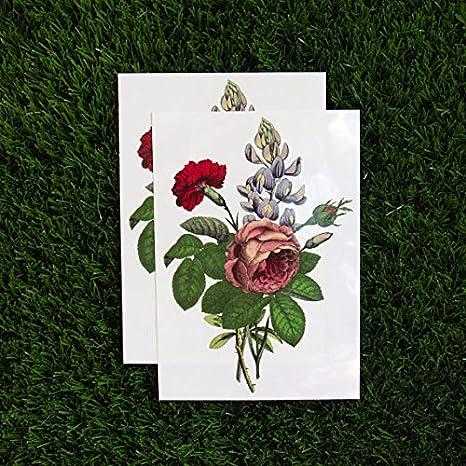 Tattify – Juego de tatuajes temporales de flores de colores ...