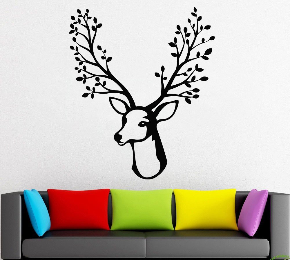 Amazon com tree wallnaturetree trunkbranchleafbirdssprucepinelarchbirchwall decorwall decalwindow stickervinyl sticker handmade 1249 handmade