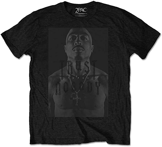 Tupac Shakur 2PAC Trust Nobody Rap Oficial Camiseta para Hombre ...