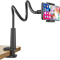 Gooseneck Cell Phone Holder, Universal 360 Flexible Phone Stand Lazy Bracket Mount Long Arms Clamp for Phone 11 Pro Xs…