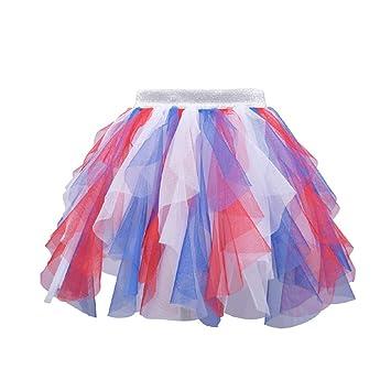 Tutus para Mujer, Halloween Rainbow Tutu Princess Dress Costume ...