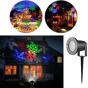 Proyector Navidad LED, Luz de Jardín Navidad RGB,LED Lámpara de ...