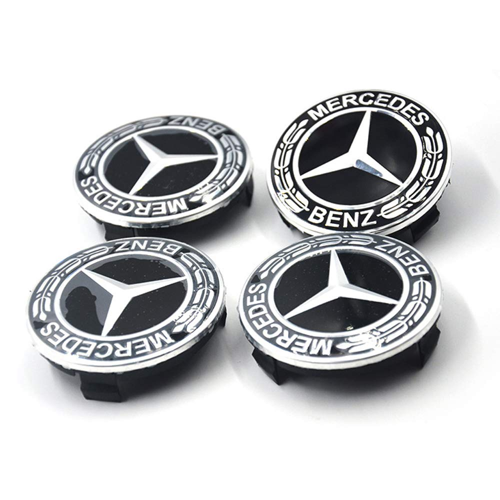 2 Myhonour 4X Felgendeckel Nabenkappen mit BMW//Volkswagen//Mercedes Benz Logo