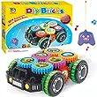Kanzd DIY Building Bricks Blocks Remote Control Car Building Kit Toys Children Educational Toys Gift (A)