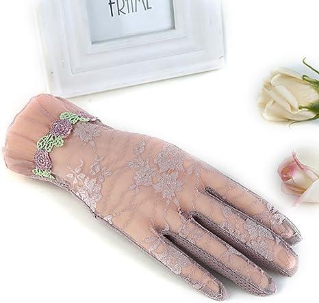 URSFUR Damen Sch/öne Spitze Sommer Sonnenschutz Handschuhe Netzhandschuhe Touchscreen spitzenhandschuhe