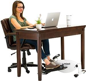 FitDesk Under Desk Elliptical - Bike Pedal Machine with Magnetic Resistance for Quiet, Fluid Motion - Adjustable Tension with Digital Performance Meter