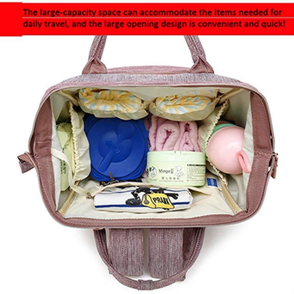 QIQI Sacchetto di Mummia, Staccabile Multifunzione Grande capacità Baby Pannolino Materna E Bambino Pacchetto
