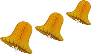 product image for Gold Honeycomb Tissue Bell Decorations, Set of 3 (15 inch, 11 inch, 9 inch)