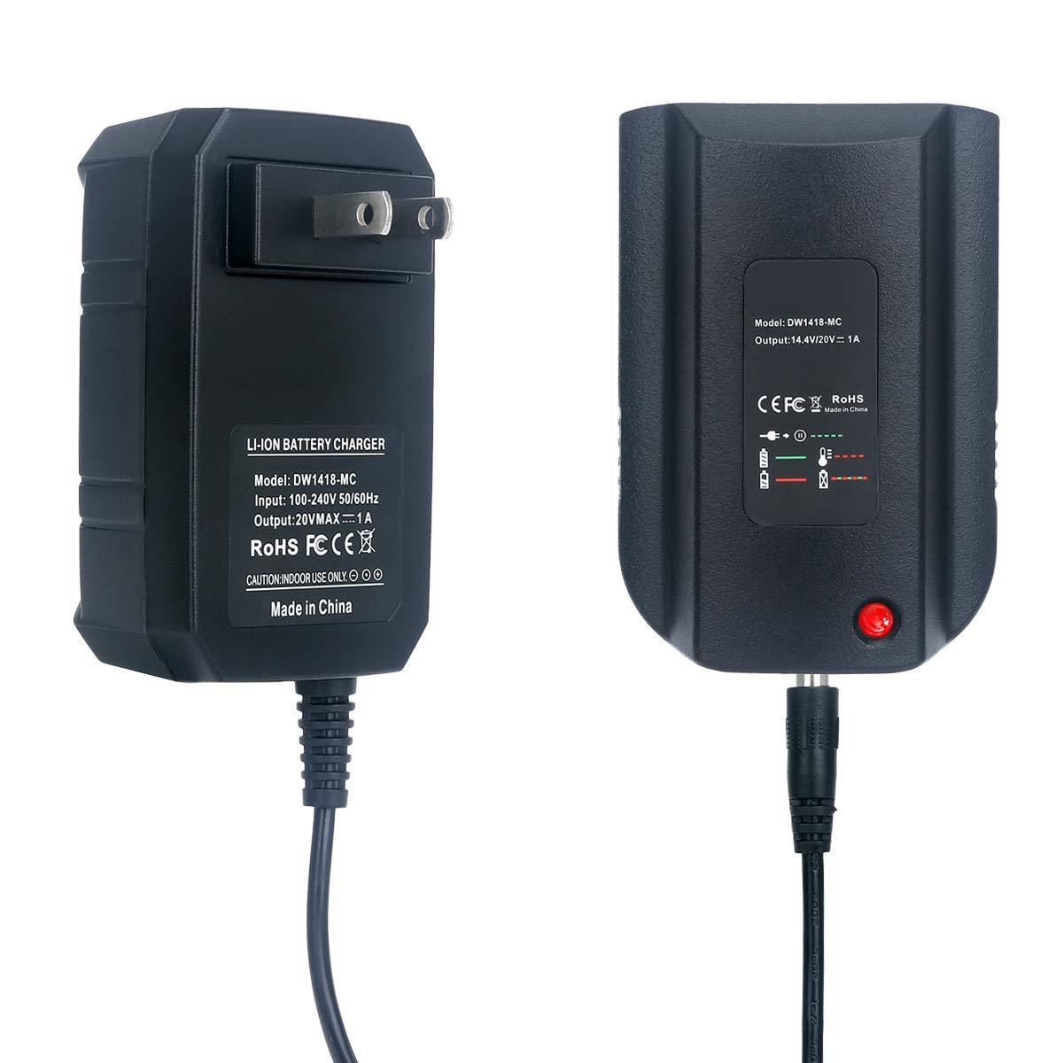 Lasica Replacement Dewalt 14.4V/20V Lithium Battery Charger DCB107 DCB115 DCB112 for Dewalt 14.4V or 20V Slide Style Lithium Battery DCB205 DCB200 DCB201 DCB203 DCB204 DCB206 DCB207 DCB180 DCB181