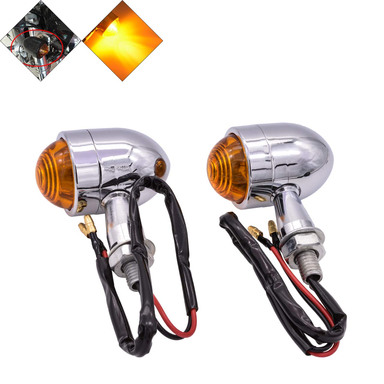CICMOD 2pcs 12V Motorbike Indicators Flowing Motorcycle LED Turn Signal Lights Universal for Harley Kawasaki Yamaha