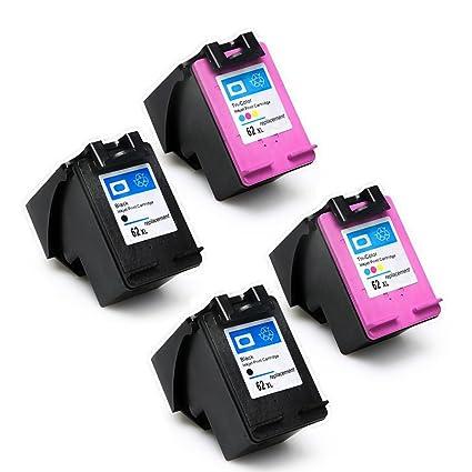 yatunink Multipack de alta capacidad cartucho de tinta para HP 62 ...