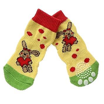 Pet Dog Outdoor Sports Calcetines Zapatos, 4 piezas de moda antideslizante antideslizante a prueba de