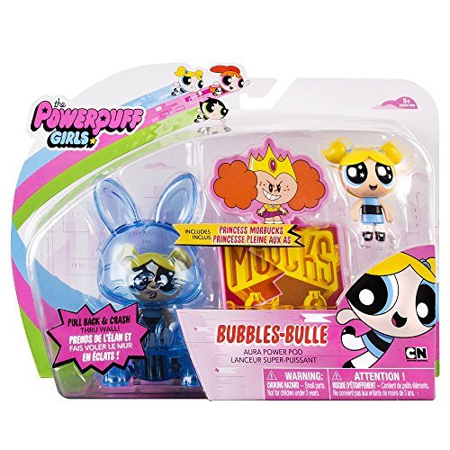 NEW! The Powerpuff Girls 2 inch Figures with Aura Power Pod - Bubbles-Bulle