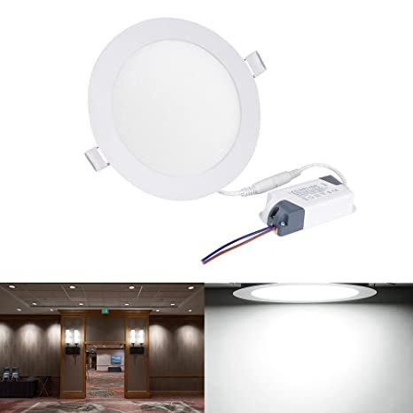 on sale 3d77e cf383 MASONANIC 18W Flat LED Panel Light Lamp 6000K Cool, Round ...