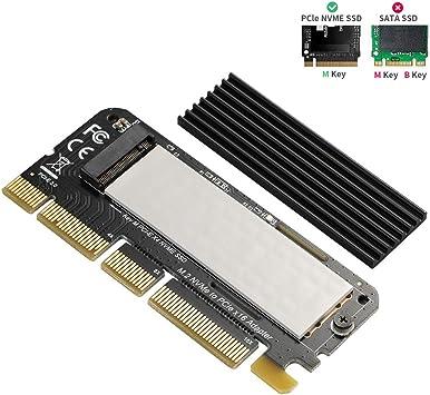 BEYIMEI NVME PCI Express 3.0 x16 en Tarjeta PCIe NVMe y Tarjeta ...
