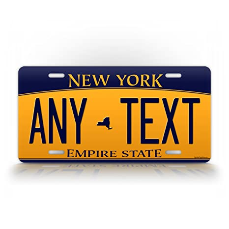 Returning Plates To Dmv Ny >> Signsandtagsonline Custom New York License Plate Any Text Personalized Ny Metal Auto Tag Aluminum Empire State