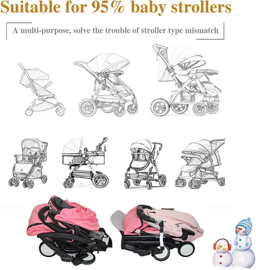 ASTARC Winter Pushchairs Warm Footmuff Sack,Kids Stroller Cosy Toes Outdoor Baby Sleeping Bag,Thickened Velvet Lined,Waterproof Windproof Detachable,for Pram Childern,Buggys,Baby Car Seat etc