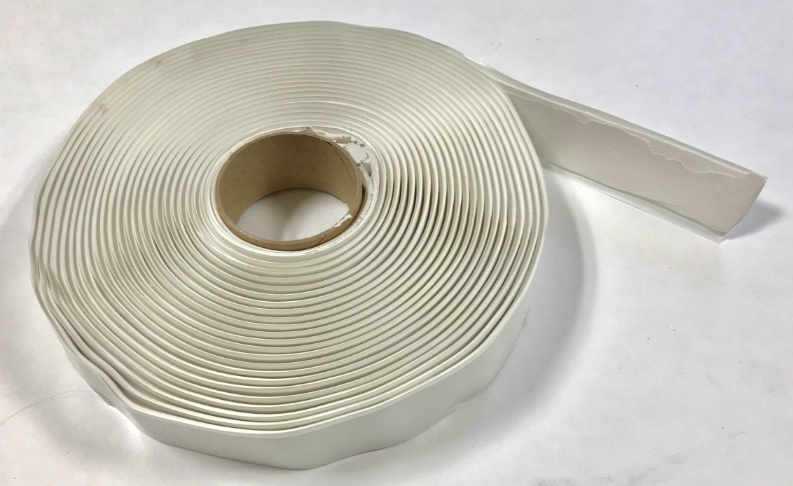 """White Butyl Tape 1/8"""" x 1"""" x 30' for RV / Mobile Home (Single Roll)"""