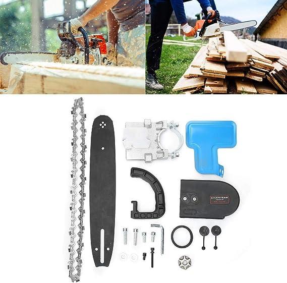 Atyhao Adaptador convertidor de Motosierra de 11.5 Pulgadas Set Amoladora Angular para Sierra de Cadena Herramienta de carpintería de jardín Herramientas eléctricas para Exteriores: Amazon.es: Hogar