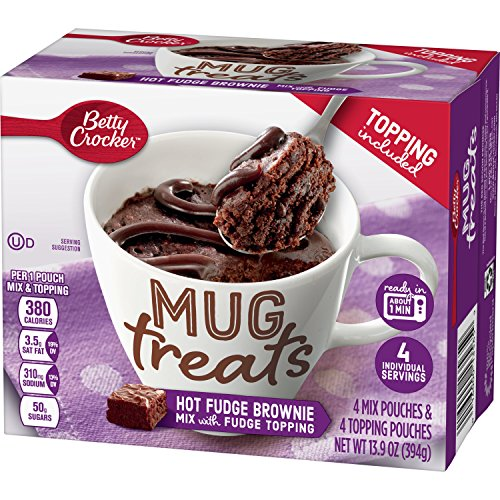 Nuts Chopped (Betty Crocker Baking Mug Treats Hot Fudge Brownie Mix with Fudge Topping, 13.9 oz(us))