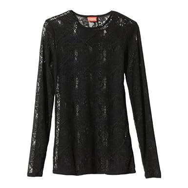 202d37c4 Kirna Zabete for Target Long-sleeve Jacquard Knit Lace Top - Black (Medium)