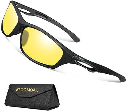 Gafas para Conducir de Noche Hombre Mujer Visión Nocturna- Gafas Amarillas Polarizadas Deportivas con Protección UV400/ Antideslumbrantes para Conducir, Exterior, Deportes: Amazon.es: Ropa y accesorios