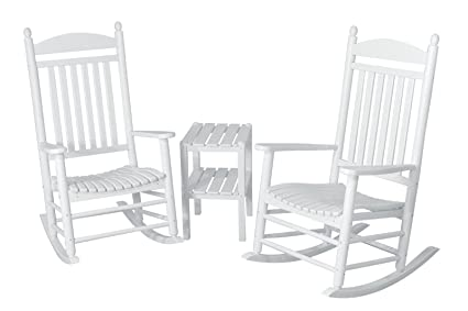 Prime Polywood Pws140 1 Wh Jefferson 3 Piece Rocker Chair Set White Pdpeps Interior Chair Design Pdpepsorg