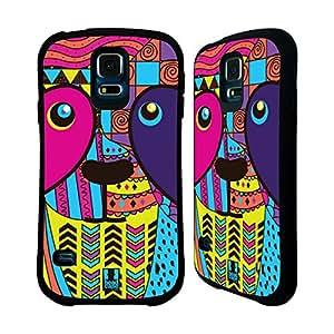 Head Case Designs Panda Abstract Animals Hybrid Gel Back Case for Samsung Galaxy S5