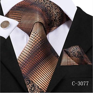 YiJiaMei Seda Hombre Tie Set Novedad Sweety Lovely Style Corbata y ...