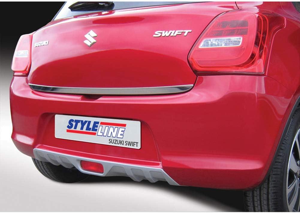 Silver RGM RSP6150 Rear Bumper Skirt Skid-Plate Swift IV 5-Doors excl Sport 5//2017-Silver