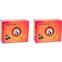 Sunlight High Quality Premium Hookah Coal - 100 Coals Per Box, 10 Rolls of 200 Charcoal Tablets - 33mm … (200)