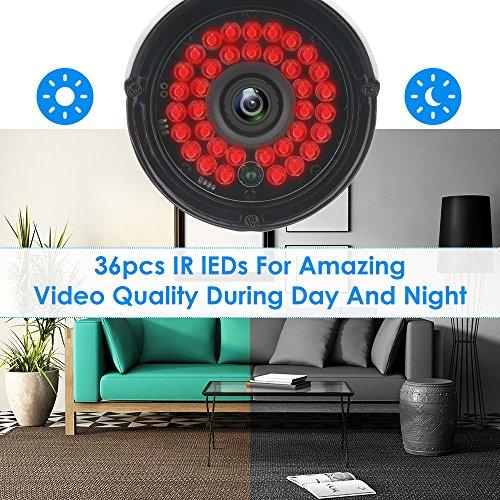 didseth CCTV Cámara Sistema H.264 con 8 CH 1080 N 5 en 1 DVR de vigilancia Sistema de seguridad y 4 x 1080P HD Bullet cámaras, IR Visión Nocturna, ...
