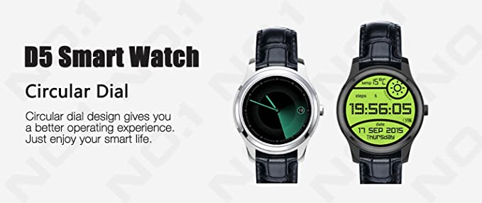 NO.1 D5 Android Smart Watch - 3G SIM, Bluetooth 4.0, Wi-Fi, Google ...
