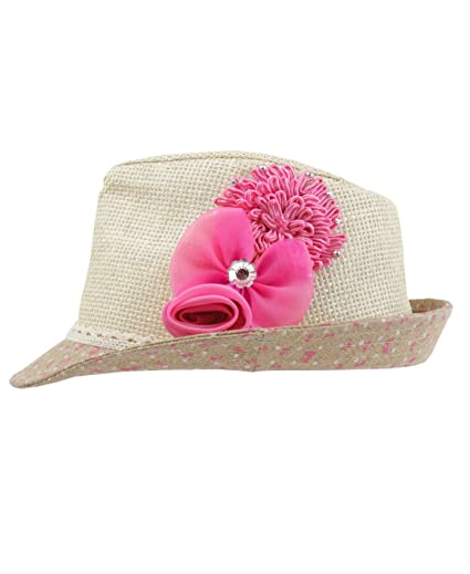 a4728d38a9e Amazon.com  RuffleButts Little Girls Fedora with Flower  Clothing